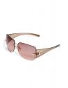 GUESS okuliare Rimless Shield Sunglasses hnedé