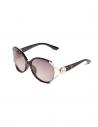 GUESS okuliare Script Logo Plastic Sunglasses tmavohnedé