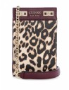 GUESS kabelka Katey Leopard Chit Chat Phone Crossbody leopard