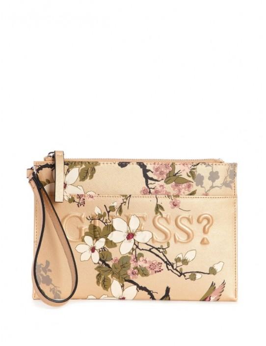 GUESS puzdro Rigden Floral Wristlet...