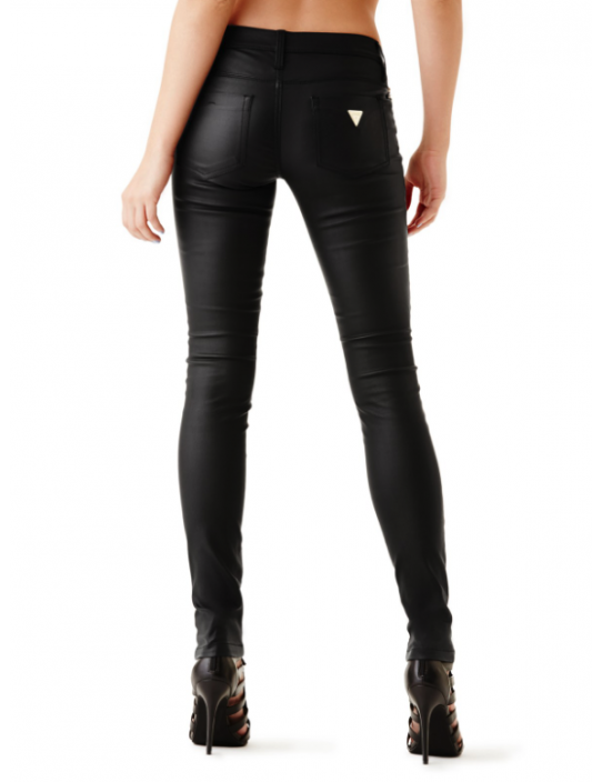 GUESS nohavice Allure Coated Skinny...