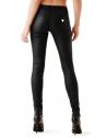 GUESS nohavice Allure Coated Skinny Jeans čierne