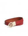 GUESS opasok Reversible Logo Spinner Belt červenohnedý