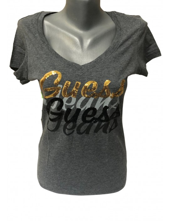 Outlet - GUESS tričko Midora sivé
