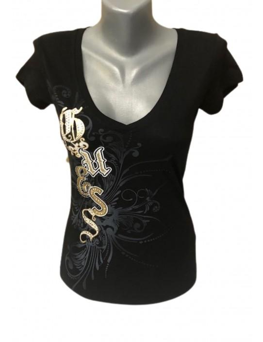 Outlet - GUESS tričko čierne