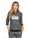 Outlet - GUESS mikina Phylicia Rhinestone Logo Hoodie sivá multi