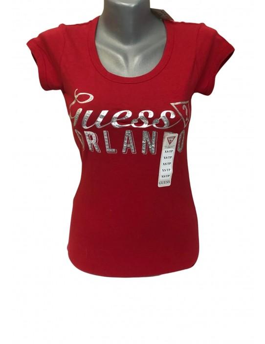 Outlet - GUESS tričko červené