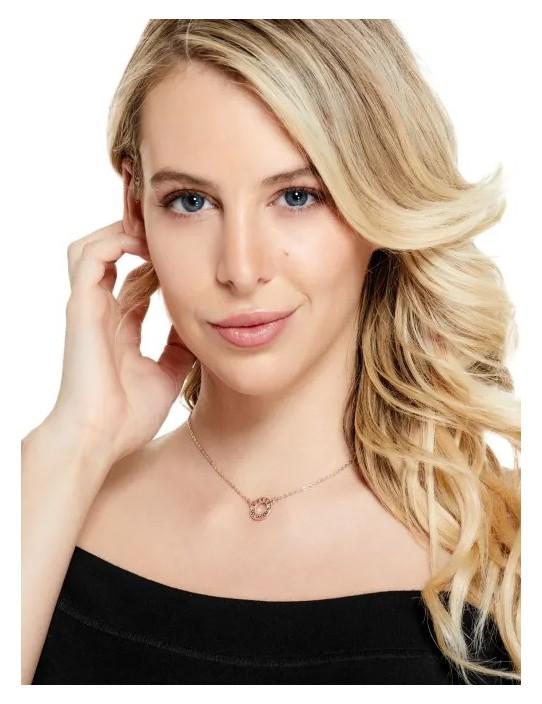 GUESS náhrdelník Rose Gold-Tone Logo...
