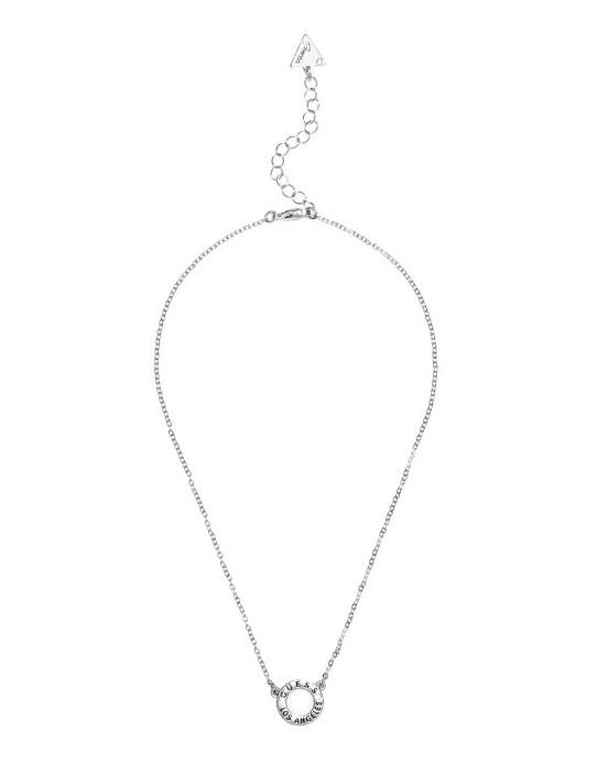 GUESS náhrdelník Silver-Tone Circle...