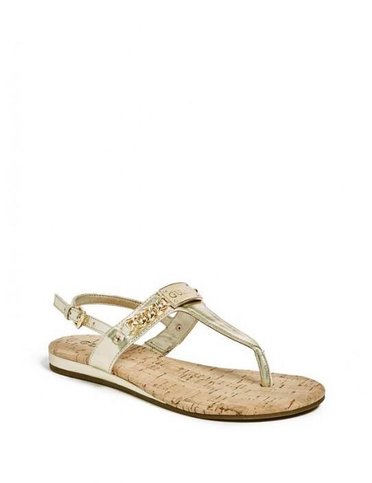 GUESS sandálky Jadeene zlaté