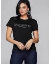 GUESS MARCIANO tričko Holographic Logo Top čierne