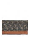 GUESS peňaženka Cate Quattro G Slim Clutch hnedá