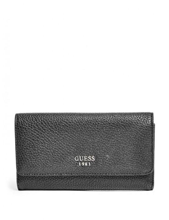 GUESS peňaženka Cate Pebbled čierna